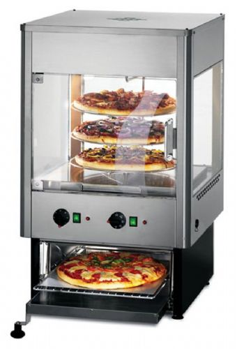 Lincat Seal UMO50 Upright Heated Merchandiser with Rotating Shelves & Oven